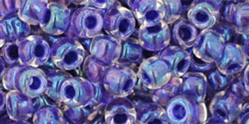 TOHO Seed Beads 6/0 Rounds In-Rainbow Crystal/Tanzanite Lined