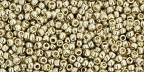 Toho Seed Beads 15/0 Rounds Permanent Finish Galvanized Aluminum
