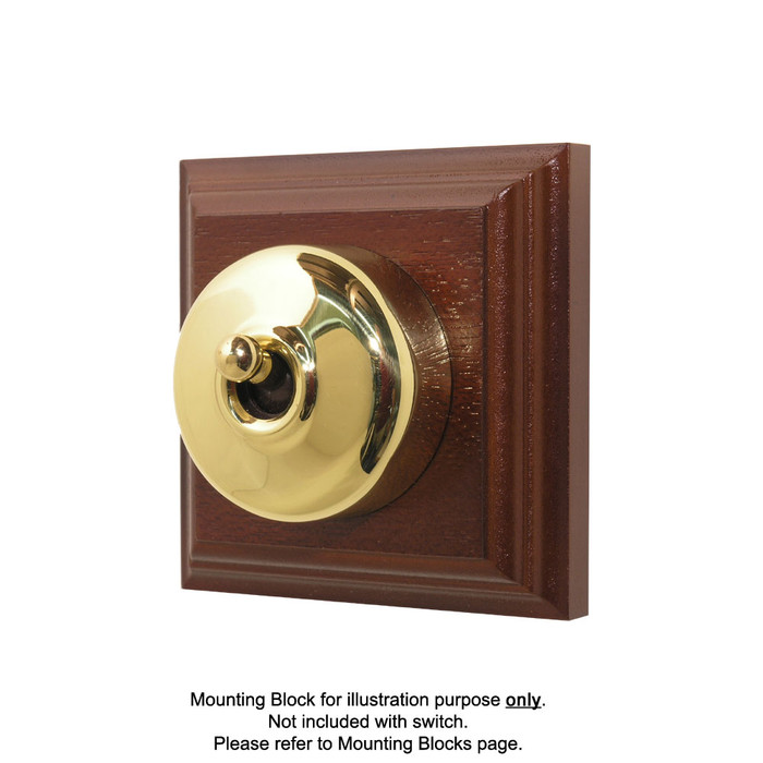 Old Heritage Clipsal Classic Switch Smooth Covered - Brass