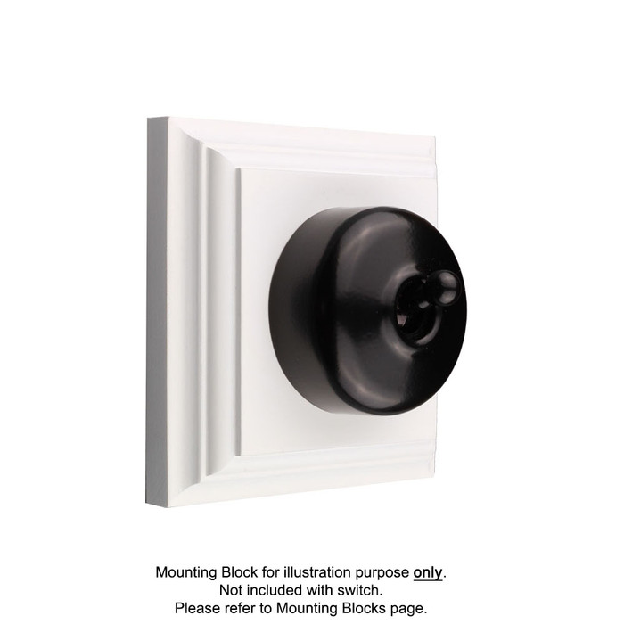 Black Clipsal Heritage Round Light Switches