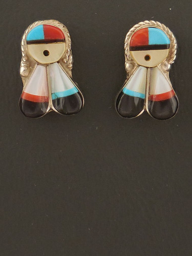 Zuni Handmade Sun Face Earrings
