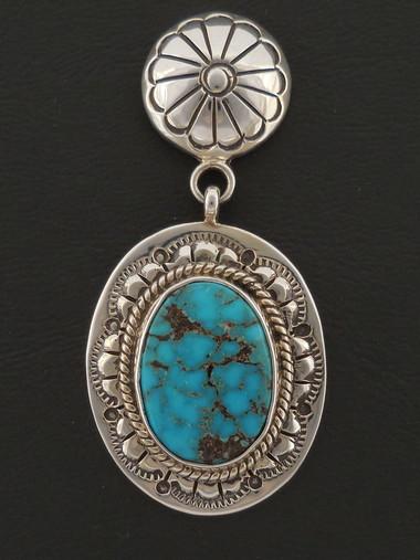 Blue Diamond Turquoise Dangle Earrings
