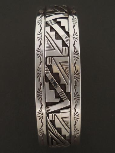 Authentic Navajo Handmade Sterling Silver Cuff Bracelet