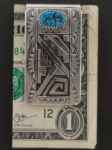 Authentic Navajo Turquoise Money Clip