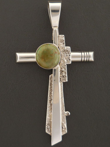 Leroy Begay Pueblo Style Cross Pendant Authentic Native American