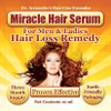 Hair Loss Remedy Without Harmful Chemicals - Miracle Hair Serum - See Results in Days! 3 Month Supply - Free USA Shipping