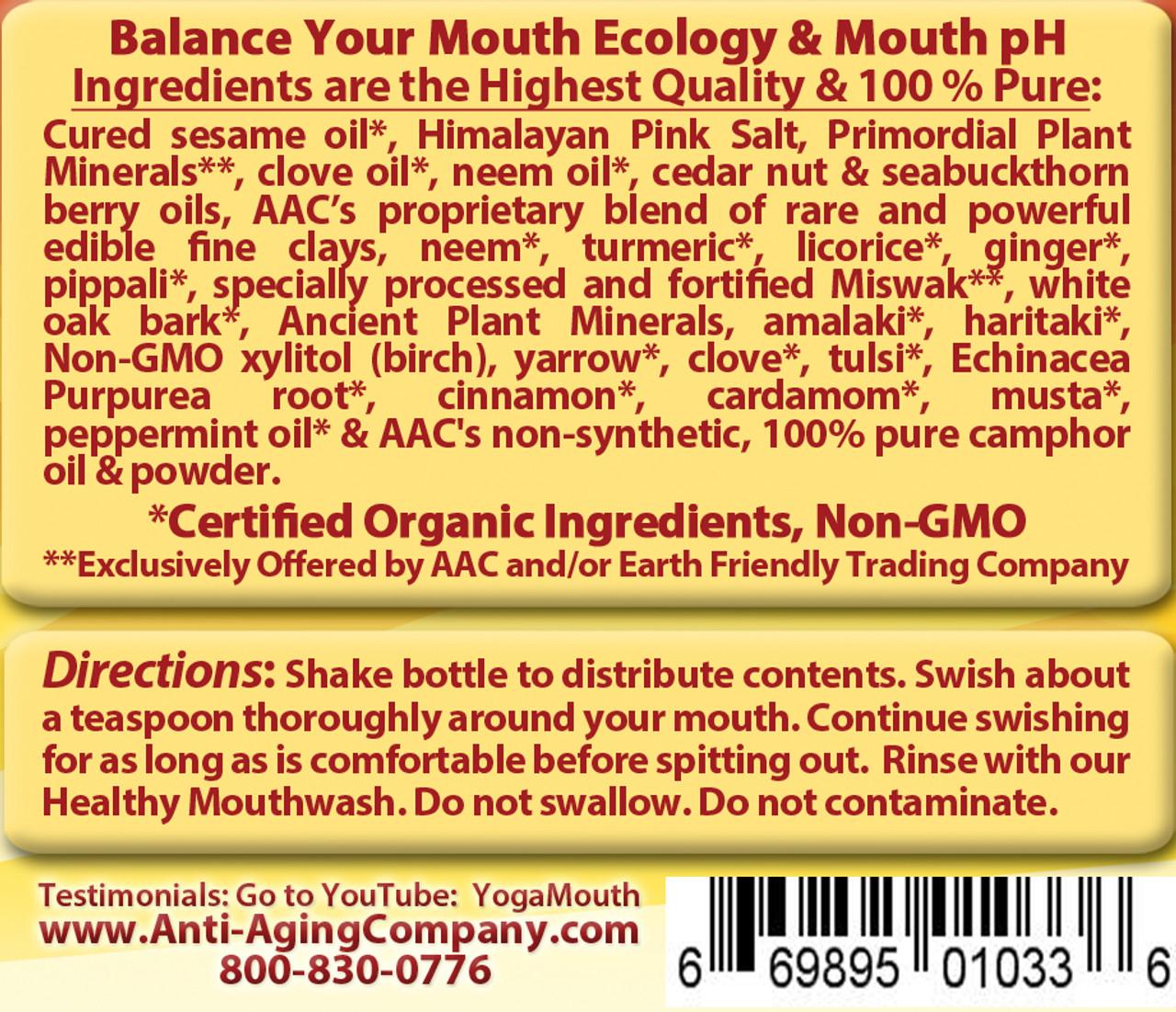 Organic Sesame Oil Pulling Detox Formula For Gums Gum Recession