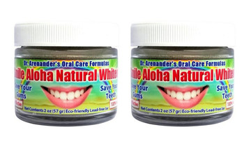 2 PACK SALE -Aloha Organic Teeth Whitening Powder - Activated Charcoal – It Works! - Free USA Shipping