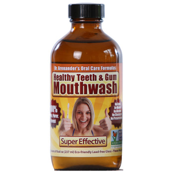 Organic Healthy Mouthwash - Flouride Free, Non-Toxic, Helps Prevent Cavities, Remove Plaque, Gum Disease