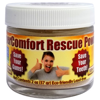 SuperComfort RESCUE Organic Tooth Powder - Gum Disease & Gum Recession - Free USA Shipping