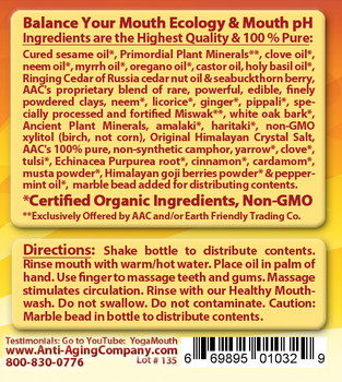 Gum Disease and Gum Recession Formula - Organic Oil Massage - Free USA Shipping