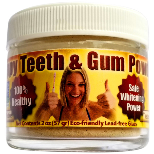 Happy Teeth and Gum Kit - Organic Mouthwash & Tooth Powder - Helps Remove Plaque, Prevent Cavities