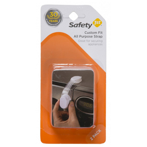 Safety 1st Custom Fit All Purpose Strap - 2 Pack - White