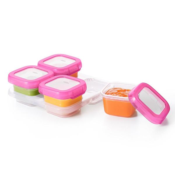OXO Plastic Baby Blocks Freezer Storage Containers (4 OZ)   Pink