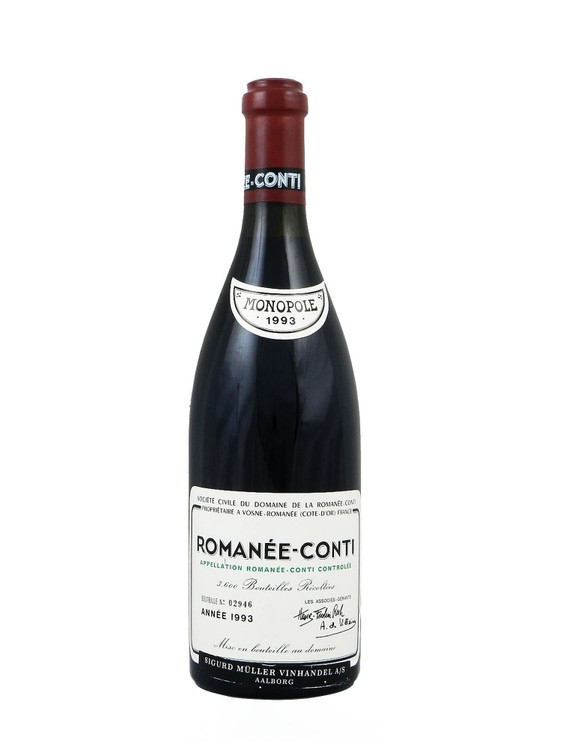 Domaine de la Romanee-Conti Romanee-Conti Grand Cru 1993 750ml (Writing on Label)