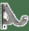 """dataDouble Grace Bracket Polished Aluminum 1"""" Scale"""
