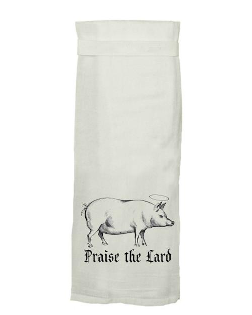Twisted Wares Praise the Lard Hang Tight Towel