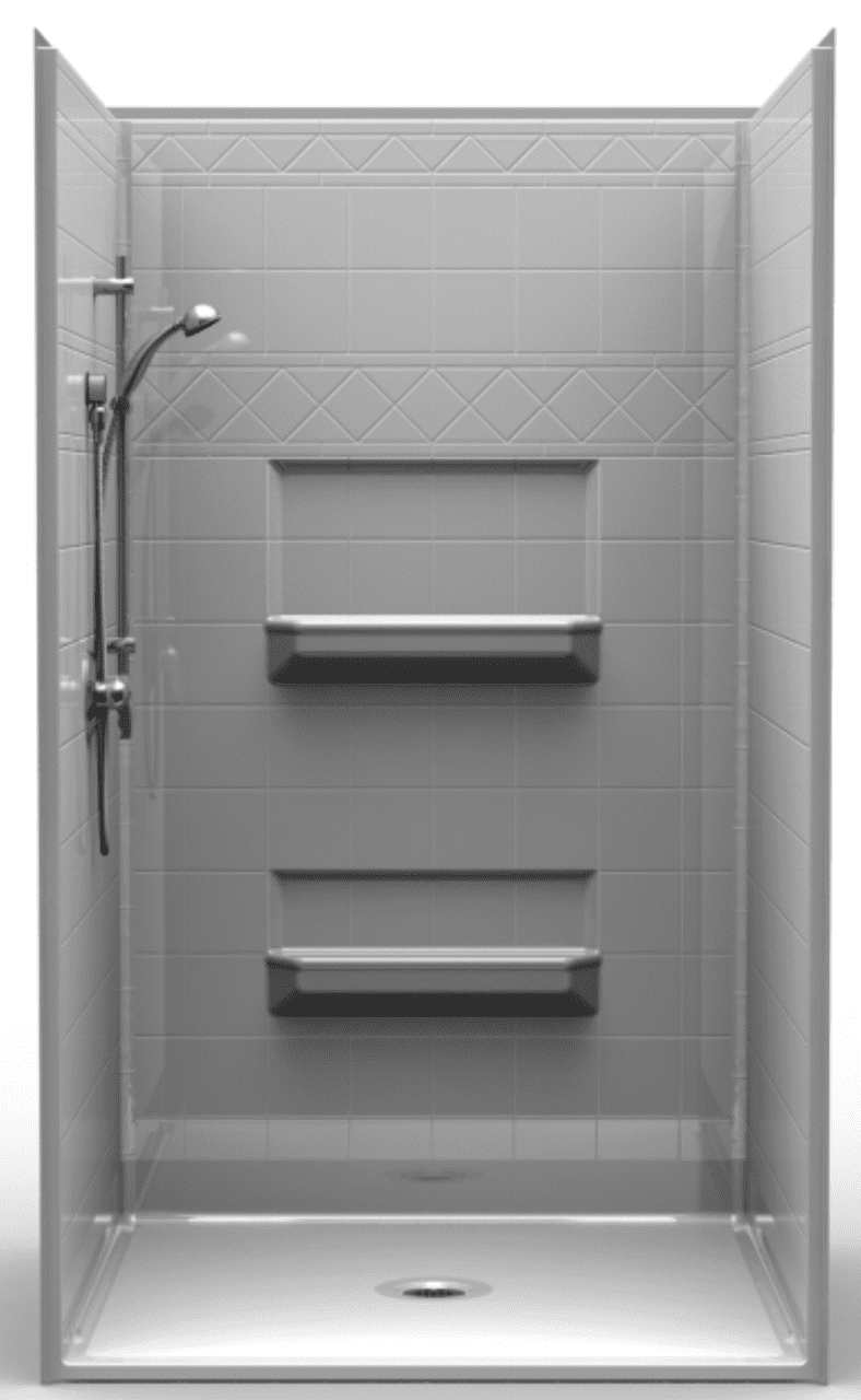 48 X 48 Roll-in Shower Stall | Accessible Shower
