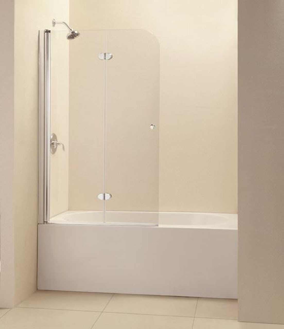 Bifold Glass Bathtub Doors Frameless Aqua Fold