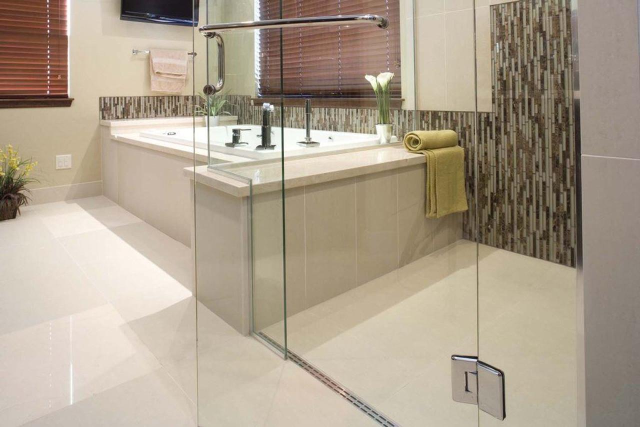 Linear Shower Drain   Proline Drain Body   Step 1