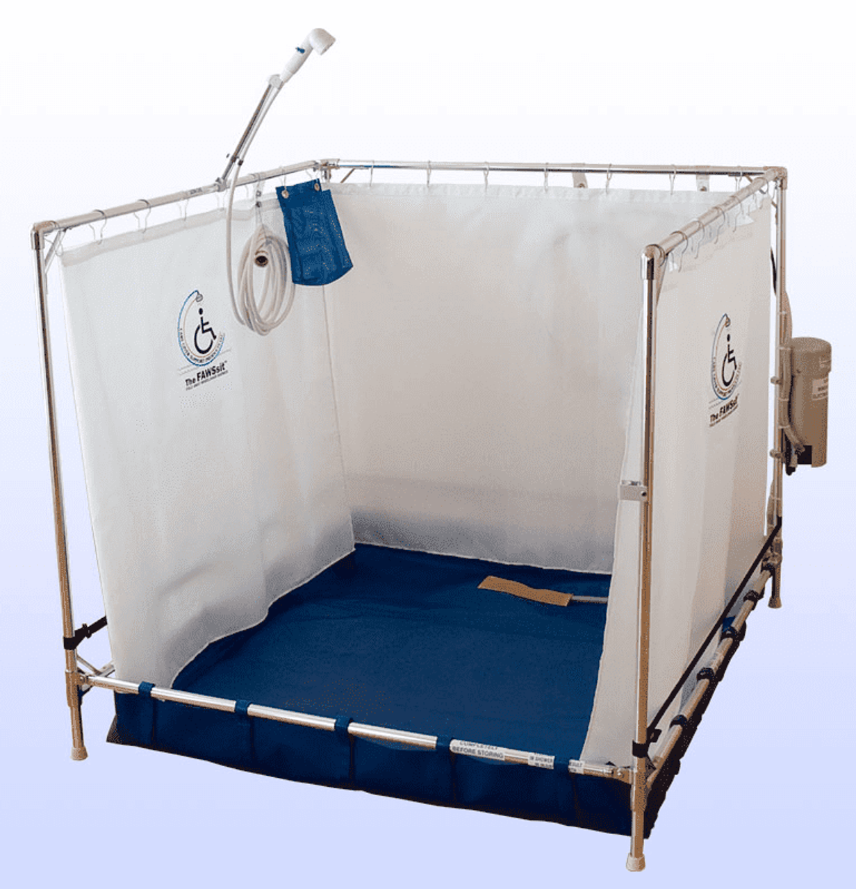 temporary shower bariatric stall portable indoor showers x