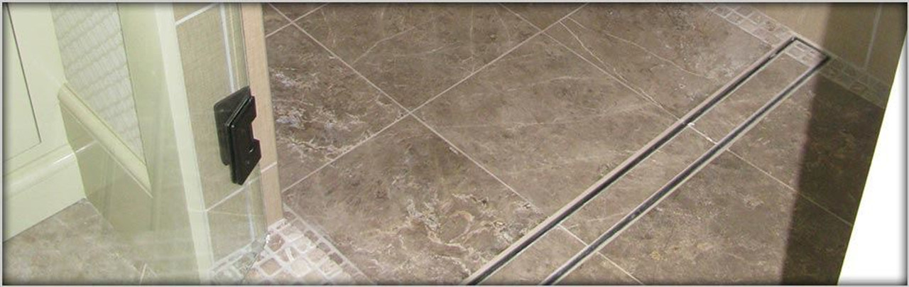 Inch LUXE Linear Drain Tile In Style - 36 inch marble tile