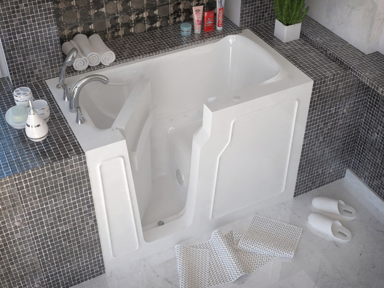 29 X 52 Walk In Bathtub By Meditub | Made In USA