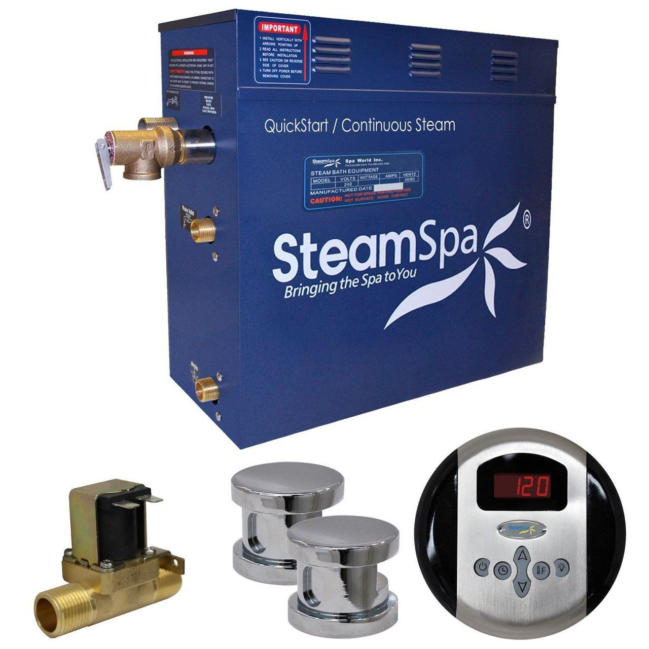 Steam Shower Kit by Steam Spa | 10.5 Kw | 240V