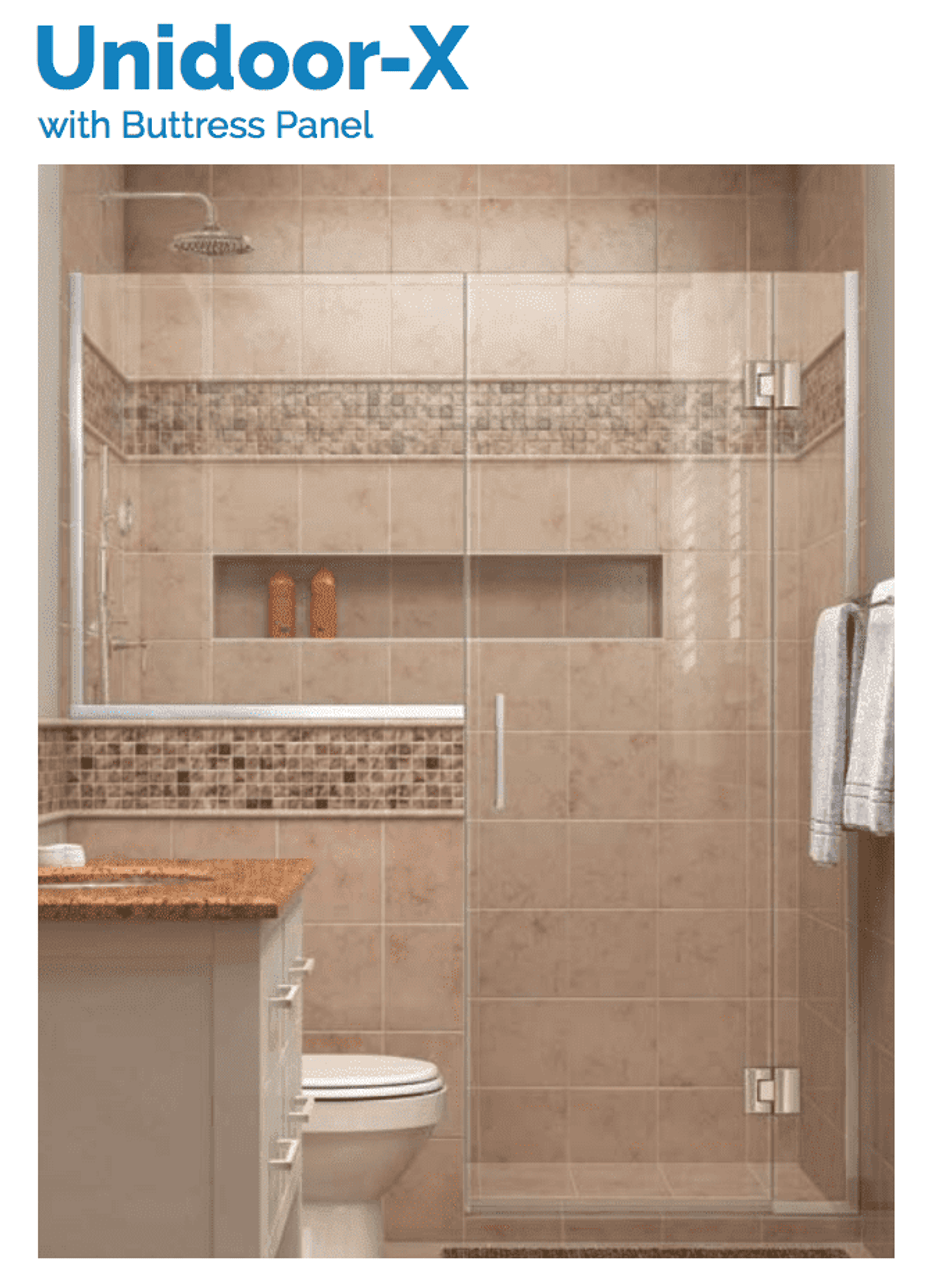 DreamLine Unidoor-X | 60 to 60-1/2 x 72 Hinged Shower Door