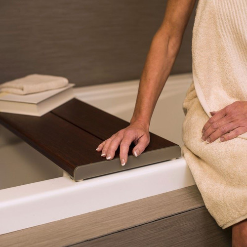Bathtub Bench   Bathtub Transfer   Brazilian Walnut   Invisia