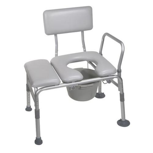 Transfer Bench U0026 Commode Padded Seat | 400 Pound Wt ...