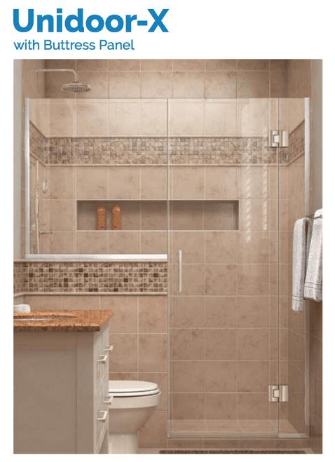 DreamLine Unidoor-X | 71 to 71-1/2 Hinged Shower Door