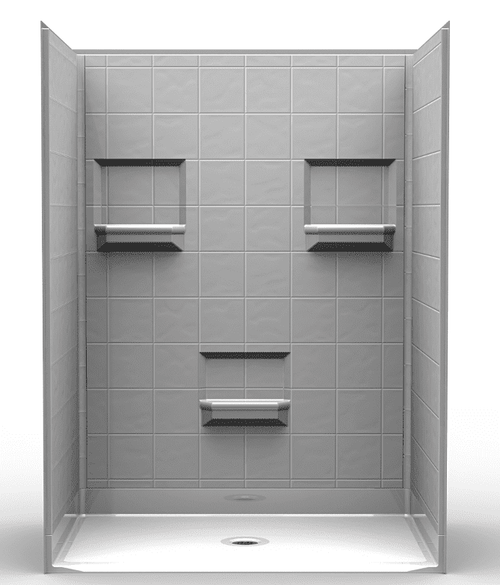 60 X 48 Curbless Shower Stall