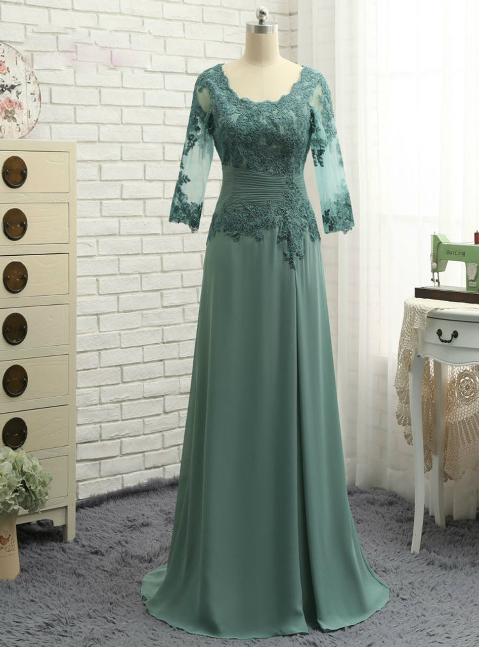 Chic Plus Size Green 2017 Mother Of The Bride Dresses A