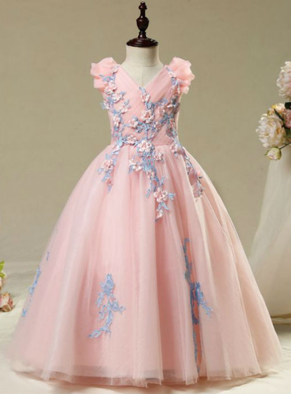 Fairy Tale 2017 Flower Girl Dresses Candy Pink Ball Gown Beautiful ...