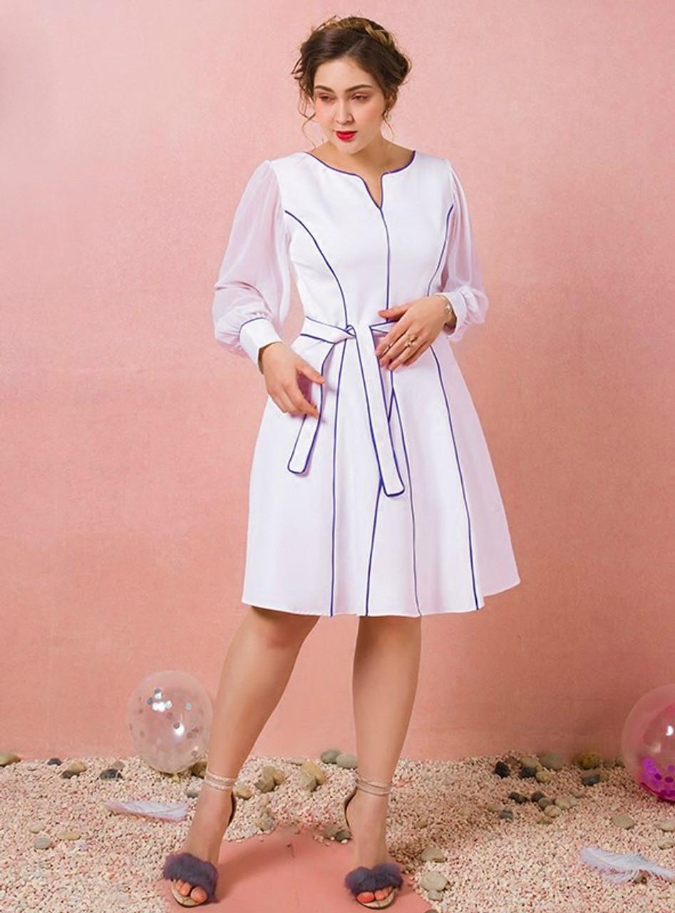 Long sleeve prom dresses white long