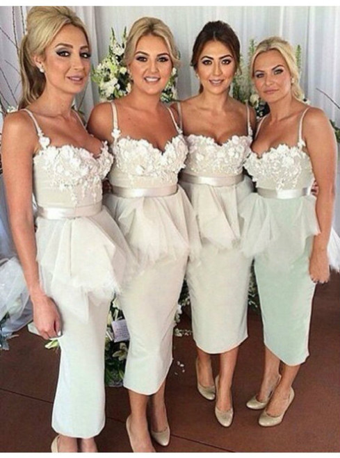 White Bridesmaid Dresses & White Gowns
