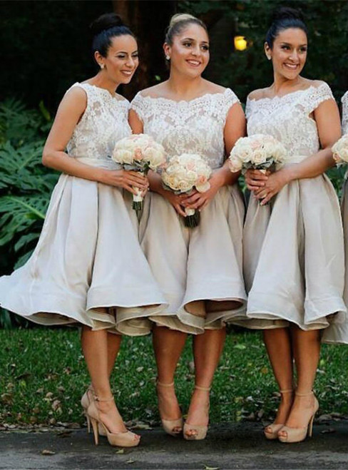 Champagne Bridesmaid Dresses & Champagne Gowns