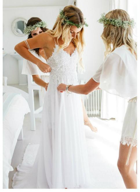 Modest Beach Wedding Dresses 2017 Open Back Outdoor Summer Weddings ...