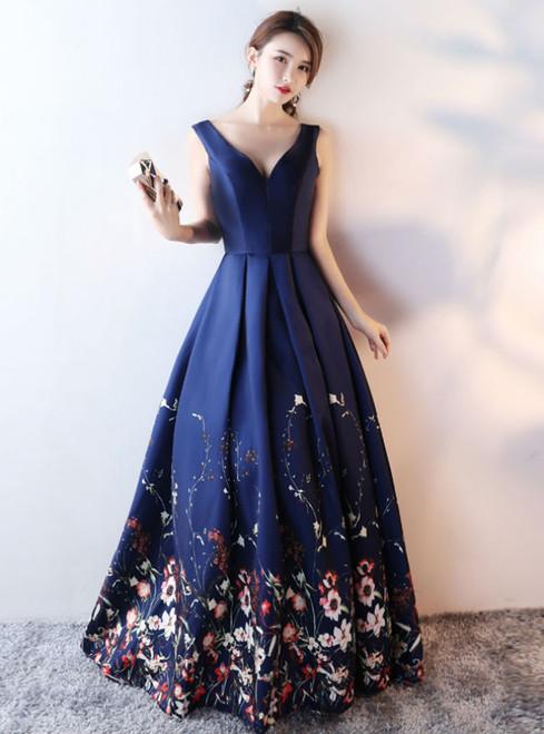 Mother Of The Bride Dresses Plus Size V Neck 2017 Floral