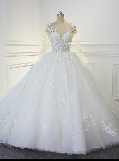 Luxury Shinny Beading Bling Wedding Dress Actual Photos Y Transpa Bodice Bridal
