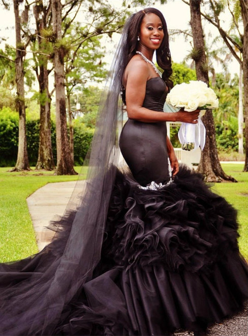 Beautiful Black Wedding Dresses Gothic Wedding Dresses,Black Wedding ...