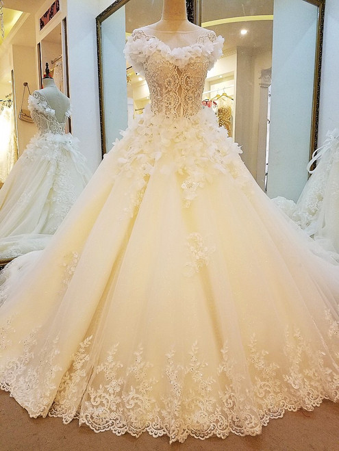 2017 wedding dresses lace ball gown corset back wedding gowns