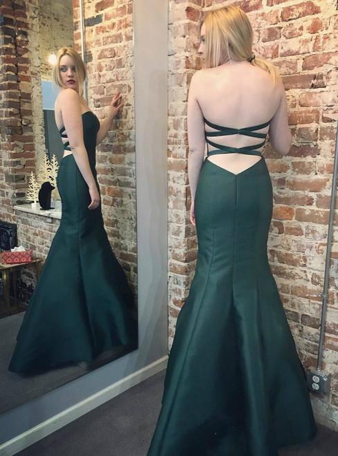 cut out waist royal blue long mermaid evening dresses prom