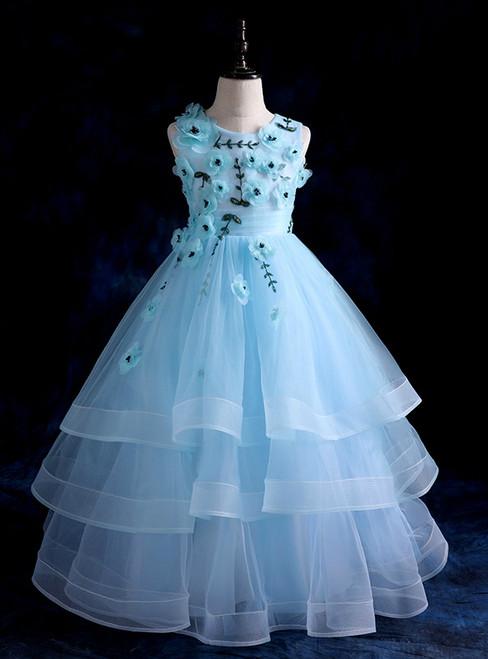 The children were wild flower fairy wedding dress dress with long ...