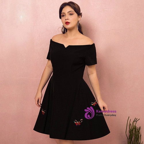 Plus Size Knee Length Prom Dresses
