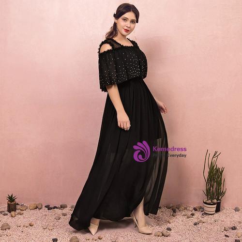 Black Chiffon Prom Dress