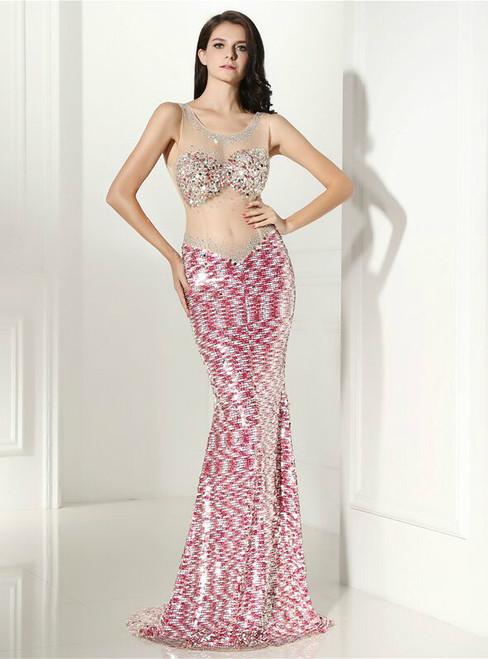 Pink Prom Dresses,Hot Pink Formal Dresses