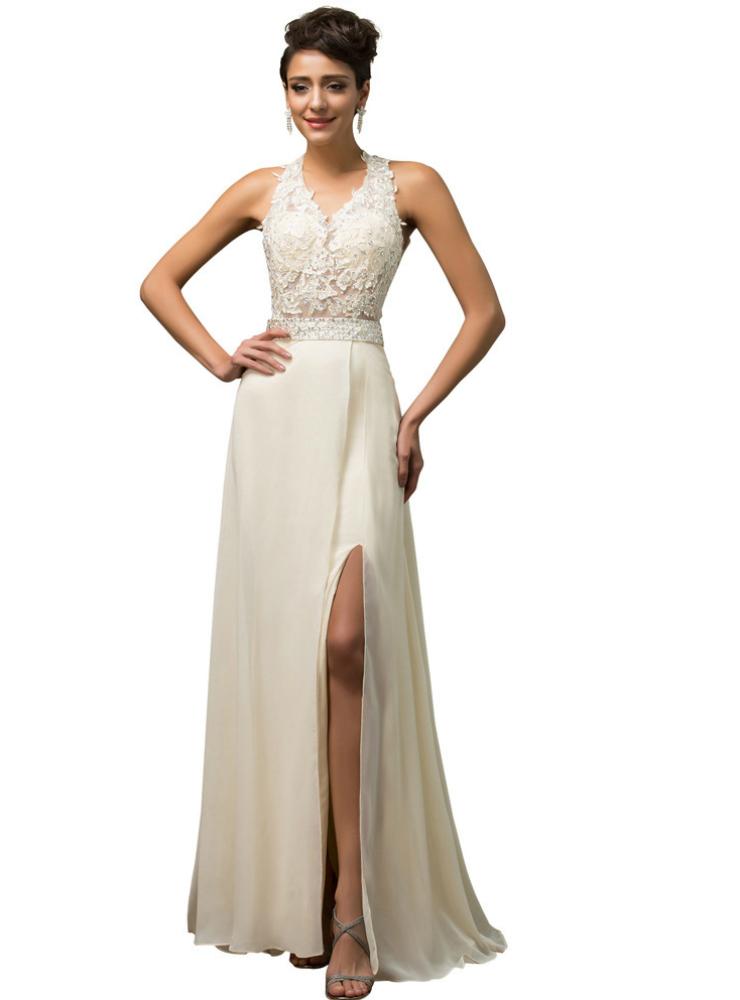 Halter Backless Fishtail High Split Korean Wedding Dresses - Korean Wedding Dress