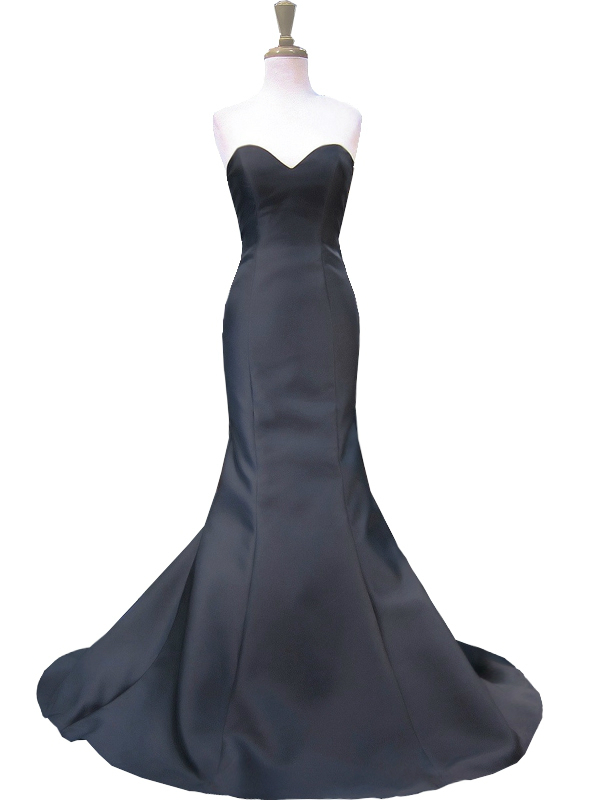 Mermaid Sweetheart Backless Black And White Backless Prom Dress